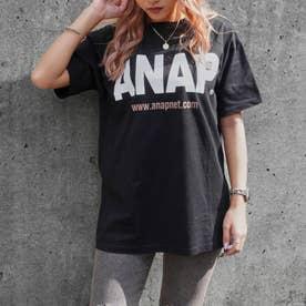 ANAPロゴバックサークルプリントTシャツ(ブラック)