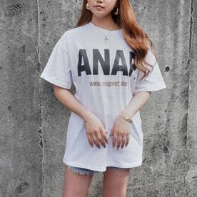 ANAPロゴバックサークルプリントTシャツ(ホワイト)