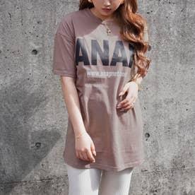 ANAPロゴバックサークルプリントTシャツ(モカ)