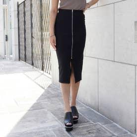 フロントジップタイトスカート(ブラック)