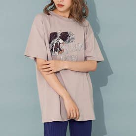 イーグルプリントTシャツ(ライトベージュ)
