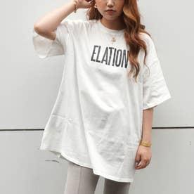ビッグロゴバイカラーTシャツ(オフホワイト)