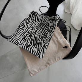 キャンバスフリンジバッグ(ホワイト/ブラック)