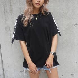 ロゴテープTシャツ(ブラック)