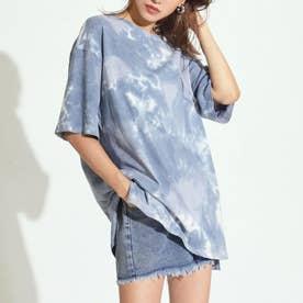 タイダイオーバーサイズTシャツ(ネイビー)