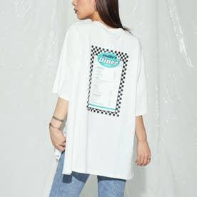 dinerプリントオーバーサイズTシャツ(オフホワイト)
