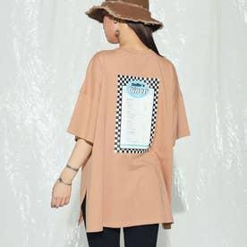 dinerプリントオーバーサイズTシャツ(オレンジ)