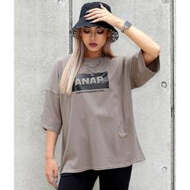 ANAPロゴオーバーサイズTシャツ(グレージュ)