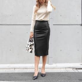 エコレザータイトスカート(ブラック)