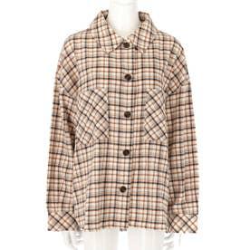オーバーサイズチェックシャツ(アイボリー)