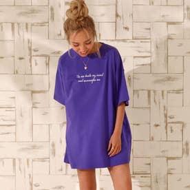 プリントTシャツ(パープル)