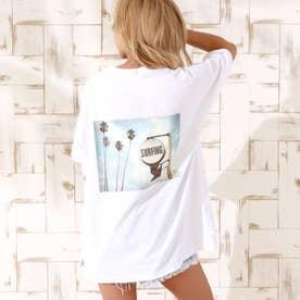 サーフィングフォトビッグTシャツ(ホワイト)