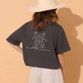 刺繍クロップドTシャツ(ダークグレー)