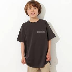 【KIDS】オルテガ刺繍ラウンドヘムビックTシャツ(ダークグレー)