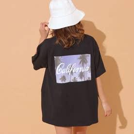 バックフォトプリントTシャツ(ブラック)