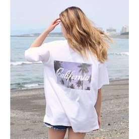 バックフォトプリントTシャツ(ホワイト)