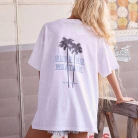 パームツリープリントTシャツ(ホワイト)