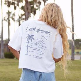 プリントクロップドTシャツ(ホワイト)