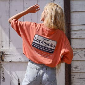 サガラ刺繍プレートTシャツ(オレンジ)