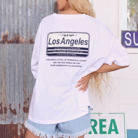 サガラ刺繍プレートTシャツ(ホワイト)