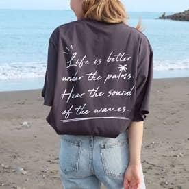 メッセージプリントTシャツ(ダークグレー)
