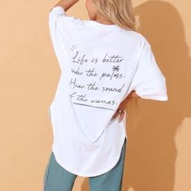 メッセージプリントTシャツ(ホワイト)