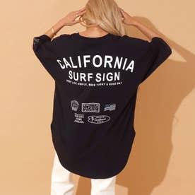 刺繍切替Tシャツ(ブラック)