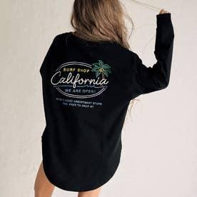 ネオンサインラウンドヘムロングTシャツ(ブラック)