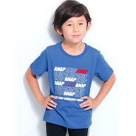 ポイントカラーANAPロゴTシャツ (ブルー)