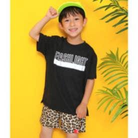 ロゴプリントビッグTシャツ (ブラック)