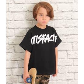 プリントオーバーサイズTシャツ(ブラック)