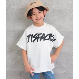 プリントオーバーサイズTシャツ(ホワイト)