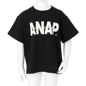 ANAPロゴダメージミニ裏毛Tシャツ(ブラック)