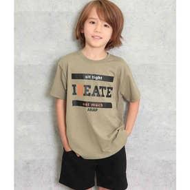 プリントビッグTシャツ(カーキ)