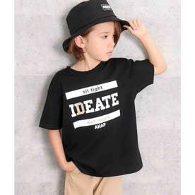 プリントビッグTシャツ(ブラック)