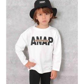 ANAPロゴミニ裏毛ロングTシャツ(ホワイト)