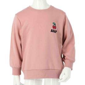 ワンポイント刺繍トレーナー(ピンク)