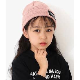 ツイルチケットニット帽(ピンク)