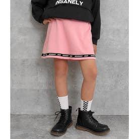 裏シャギーラインロゴスカート(ピンク)