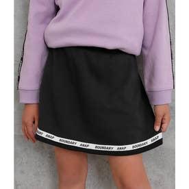 裏シャギーラインロゴスカート(ブラック)