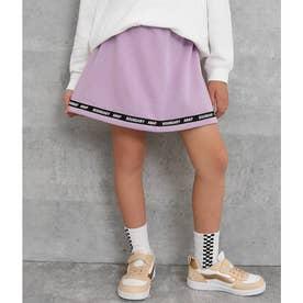 裏シャギーラインロゴスカート(ラベンダー)