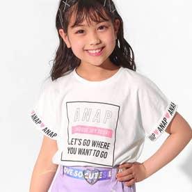 袖ロールアップドルマンTシャツ(オフホワイト)
