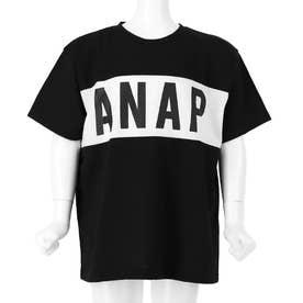 吸水速乾ANAPプリント切替バイカラーTシャツ(ブラック)