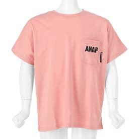 吸水速乾ドルマンオーバーサイズTシャツ(ピンク)