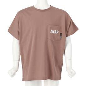 吸水速乾ドルマンオーバーサイズTシャツ(モカ)