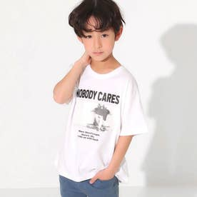 吸水速乾フォトプリントビッグTシャツ(オフホワイト)