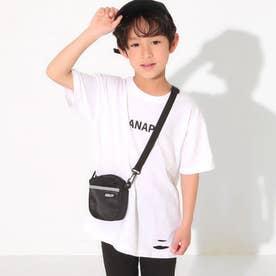 ミニバッグ付ビッグTシャツ(オフホワイト)