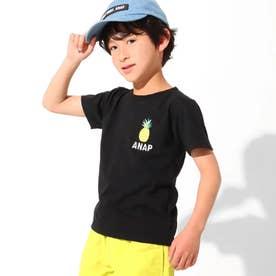吸水速乾サマーワンポイントTシャツ(ブラック)