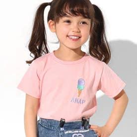 吸水速乾サマーワンポイントTシャツ(ライトピンク)