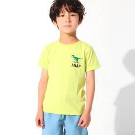 吸水速乾サマーワンポイントTシャツ(ライム)